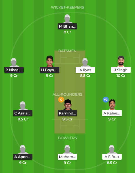 Emerging Teams Asia Cup 2019 - SL-ET vs OMN-ET Fantasy Team