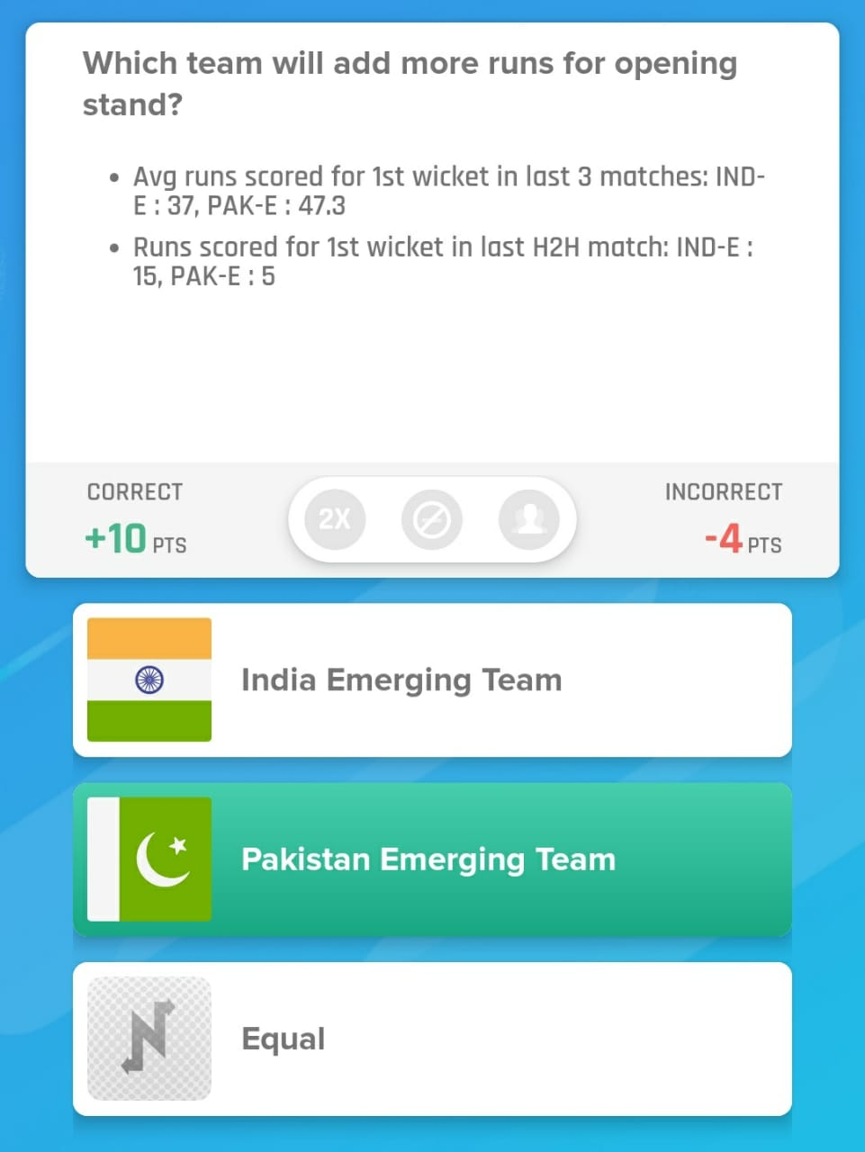 Emerging Teams Asia Cup Semi Final - PAK-ET vs IND-ET Nostragamus Pick