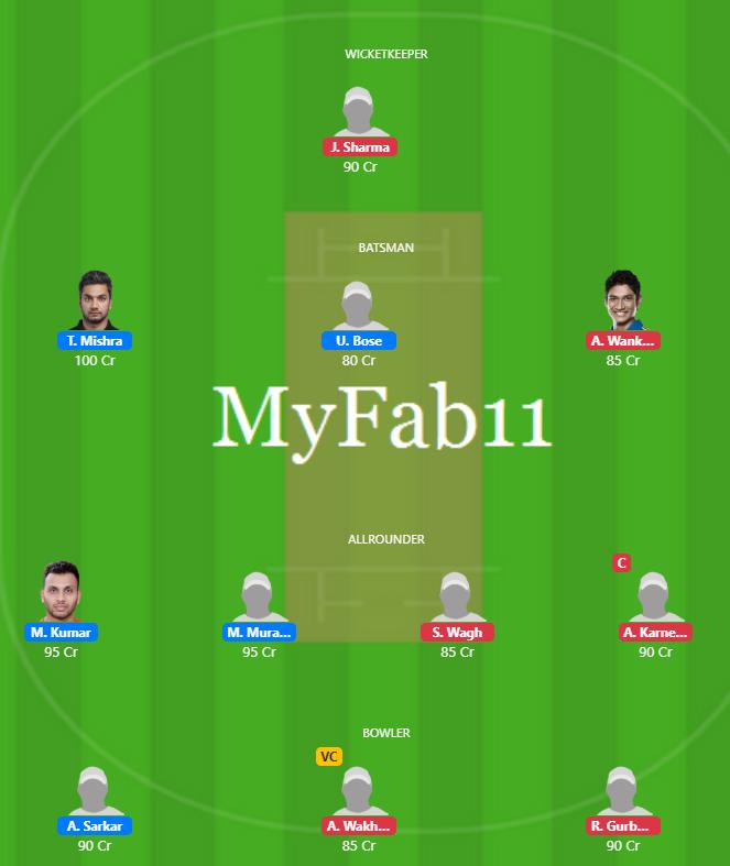Syed Mushtaq Ali 2019 - TRP vs VID Fantasy Team