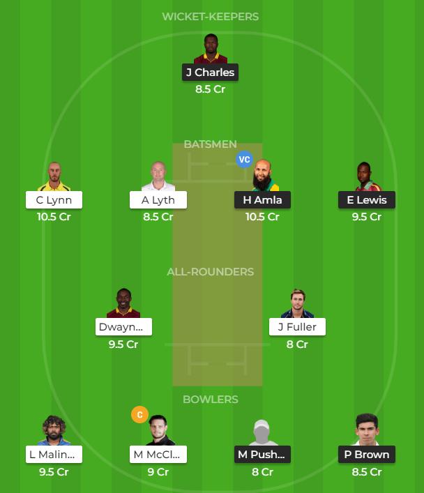 T10 League 2019 Match 16 - KAT vs MAR Fantasy Team