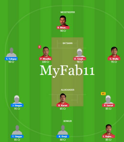 South Asian Games 2019 - BHU vs NEP Fantasy Team