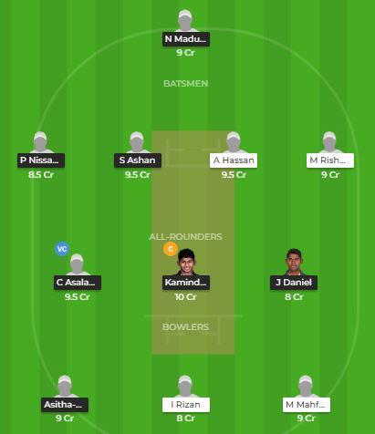 South Asian Games 2019 - SLU23 vs MLD Fantasy Team