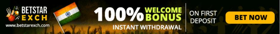 Betstar Exch - 100% Welcome Bonus